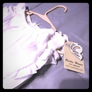 Other - NWT Beautiful white satin feel girls dress!